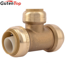 GutenTop Sharkbite 1/2 Igual Tee Brass Push para conectar Push Fit Fitting